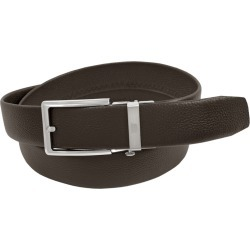 Florsheim 34mm Leather Track Belt Brown Misc Accessories 38 found on Bargain Bro Philippines from Shoemall.com for $44.95