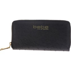 Bebe Clarita Ostrich Zip Around Black Misc Accessories No Size found on Bargain Bro India from Shoemall.com for $10.99