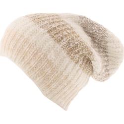 Free People Women's Cozy In Stripes Beanie Bone Hats One Size