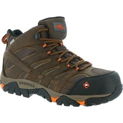 Merrell Work Moab Vertex Mid WP CT Men's Grey Boot 14 W found on Bargain Bro from Shoemall.com for USD $117.76
