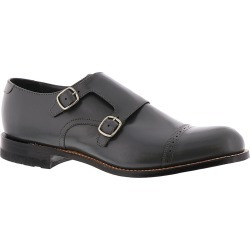 Stacy Adams Madison Cap Toe Double Monk Men's Grey Slip On 10.5 D found on Bargain Bro India from Shoemall.com for $124.95