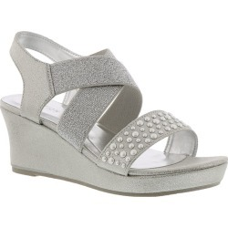1a640d137406 Kenneth Cole Reaction Reed Glitter Girls  Toddler-Youth Silver Sandal 4  Youth M found