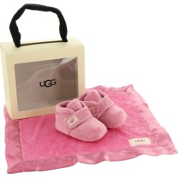 UGG Bixbee and Lovey Girls' Infant Pink Slipper 4/5 Infant M found on Bargain Bro India from Shoemall.com for $59.95