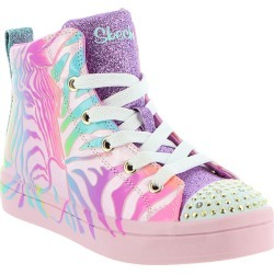 Skechers TT Twi-Lites-Zebra Brights Girls' Toddler-Youth Pink Sneaker 4 Youth M found on Bargain Bro India from Shoemall.com for $41.99