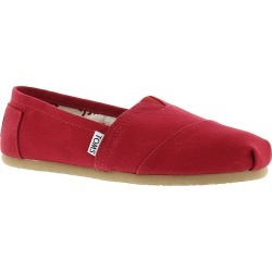 TOMS Core Canvas Classics Women's Red Slip On 10 M found on Bargain Bro India from Shoemall.com for $49.95