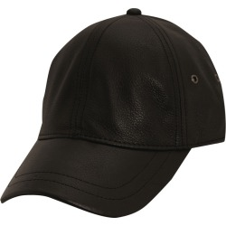 Stetson Classic Men's Leather Ball Cap Black Hats One Size