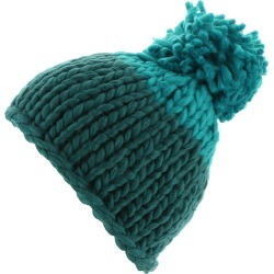Free People Women's Cozy Up Color Block Pom Beanie Blue Hats One Size