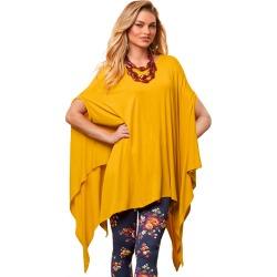 Endless Poncho Gold Knit Tops 2X/3X