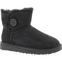 UGG Mini Bailey Button II Women's Black Boot 11 M found on Bargain Bro India from Shoemall.com for $154.95
