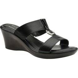 Easy Street Calla Women's Black Sandal 11 W2 found on Bargain Bro India from Shoemall.com for $59.95