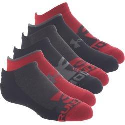 Under Armour Boys' Essential Lite No Show 6-Pack Socks Black Socks L