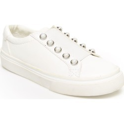 BCBG Girls Mason Girls' Toddler-Youth White Slip On 12 Toddler M found on MODAPINS from Shoemall.com for USD $48.95