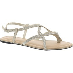 Madeline Deco Women's Grey Sandal 11 M found on Bargain Bro India from Shoemall.com for $38.95