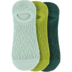 Free People Women's Pointelle 3 PK Ped Set Blue Socks One Size