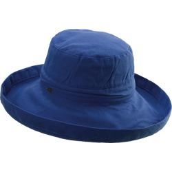 Scala Collezione Women's Cotton Big Brim Hat Blue Hats One Size