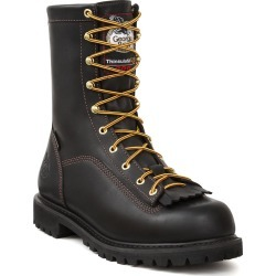 """Georgia Boot Lace-To-Toe 8"""" Insulated Men's Black Boot 8 M"""