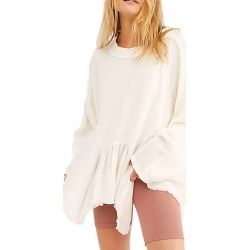 Free People Women's Gold Duster Pullover Bone Knit Tops S