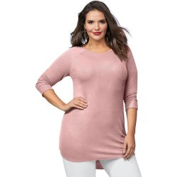 The Ultimate Lounge Tunic Pink Knit Tops S