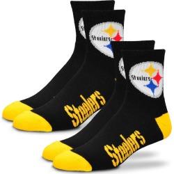 2-Pack Men's Or Women's NFL Socks Black Socks M