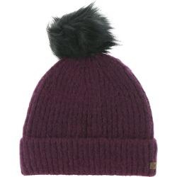 Columbia Women's Winter Blur Pom Pom Beanie Red Hats One Size