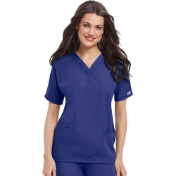Cherokee Medical Uniforms V-Neck Top Purple Shirts XL found on Bargain Bro from Shoemall.com for USD $15.19