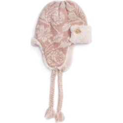 MUK LUKS Women's Rose Gold Trapper Hat Pink Hats One Size