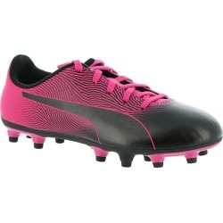 PUMA Spirit II FG JR Girls' Toddler-Youth Black Soccer 5.5 Youth M