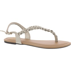 Madeline Charge Women's Gold Sandal 7 M found on Bargain Bro India from Shoemall.com for $34.95