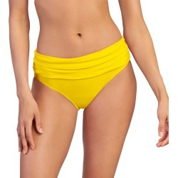 Ruched Mid-Rise Bottom Yellow Shorts S found on Bargain Bro India from Shoemall.com for $16.99