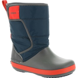 Crocs LodgePoint Snow Boot Boys' Toddler-Youth Navy Boot 13 Toddler M found on Bargain Bro India from Shoemall.com for $49.95