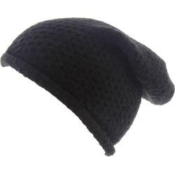 Free People Women's Dreamland Knit Beanie Black Hats One Size