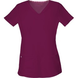 HeartSoul Break On Through Shaped V-Neck Top Burgundy Shirts L