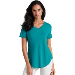 Essential V-Neck Tee Blue Knit Tops M