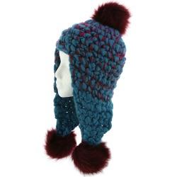 Free People Women's Snow Castle Trapper Blue Hats One Size