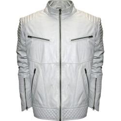 Franchise Club Men's Raw X MOTO Leather Jacket White Jackets 6X