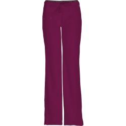 HeartSoul Break On Through Low Rise Draw Pant Burgundy Pants 2X-Long