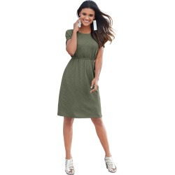 Pocket Perfect Knit Dress Green Dresses 2X found on Bargain Bro India from Shoemall.com for $24.95