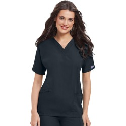 Cherokee Medical Uniforms V-Neck Top Black Shirts L found on Bargain Bro from Shoemall.com for USD $15.19