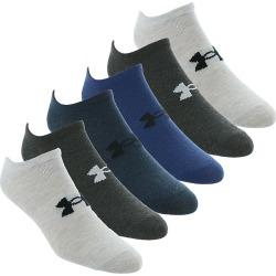 Under Armour Men's Essential Lite No Show 6-Pack Socks Blue Socks M