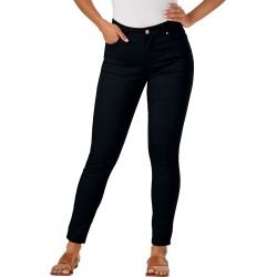 Colored Skinny Jean Black Pants 6-Regular