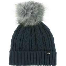 The North Face Women's Oh-Mega Fur Pom Beanie Navy Hats One Size
