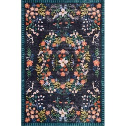 Luxembourg Black Printed Rug