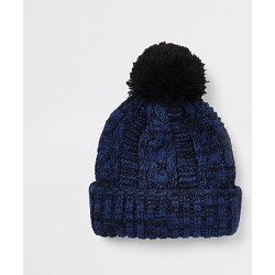 Boys Blue twist knit beanie hat found on MODAPINS from River Island - UK for USD $10.12