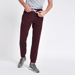Superdry dark Red cuffed joggers found on MODAPINS from River Island - UK for USD $65.29