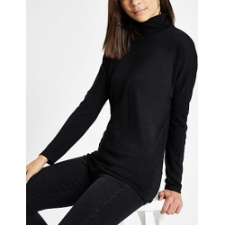 Womens Black roll neck batwing sleeve jumper found on MODAPINS from River Island - UK for USD $28.73