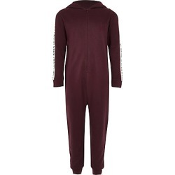 Boys dark Red RI tape side onesie found on MODAPINS from River Island - UK for USD $23.51