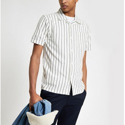 Bellfield White vertical stripe shirt found on MODAPINS from River Island - UK for USD $37.26