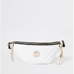 River Island Girls cream quilted bum bag found on MODAPINS from RIver Island US for USD $24.00