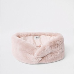 Womens Light Pink faux fur headband found on MODAPINS from River Island - UK for USD $18.98