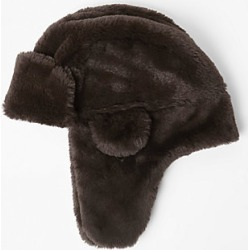 Boys Brown faux fur trapper hat found on MODAPINS from River Island - UK for USD $15.18
